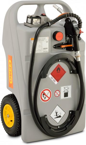 Beispiel Dieseltrolley 100 Liter Inhalt mit Elektropumpe CENTRI SP30 und Akku