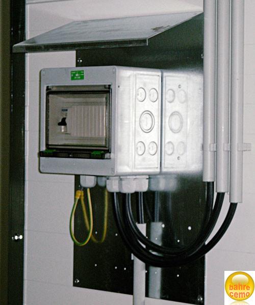 Beispiel Sicherungskasten IP 54 für Sicherheitsraumcontainer