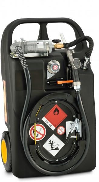 Trolley für Benzin mit Handpumpe, 60 Liter