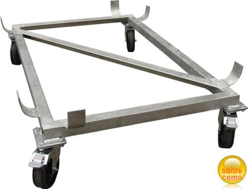 Stahl-Lenkrollengestell verzinkt