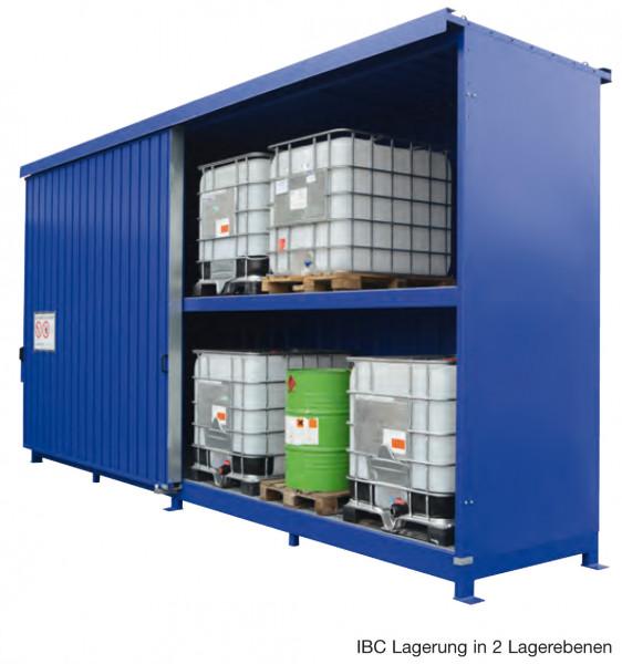 Beispiel Regalcontainer – IBC-Lagerung