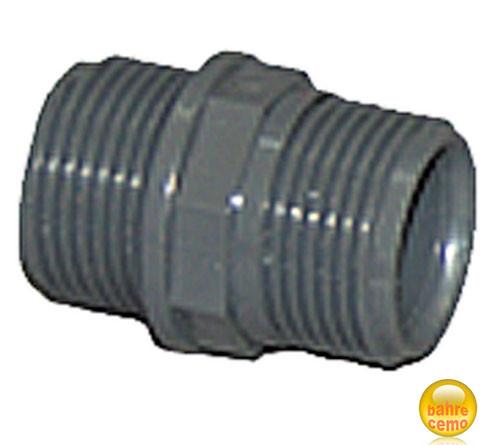 """PVC-Doppelnippel, 1½"""" Außengewinde"""