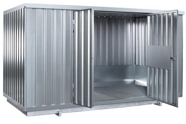 Beispiel Sicherheitsraumcontainer Typ SRC N verzinkt mit natürlicher Belüftung