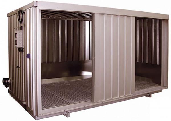Stahlraumcontainer Beispiel Typ SRC 4.1W ST verzinkt mit 4 Schiebetorflügeln