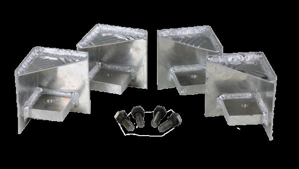 Alutec Paltettenfüsse 4 Stück für Boxenserie EXTREME inklusive Befestigungsmaterial