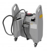 Transfer-Trolley Öl 150 Liter Inhalt mit 12-V-Zahnradpumpe und Akku sowie Ladegerät