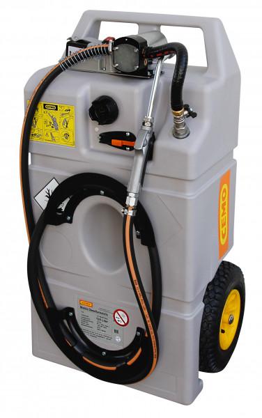 Schmierstofftrolley mit Akku und 100 Liter Inhalt für Frischöl