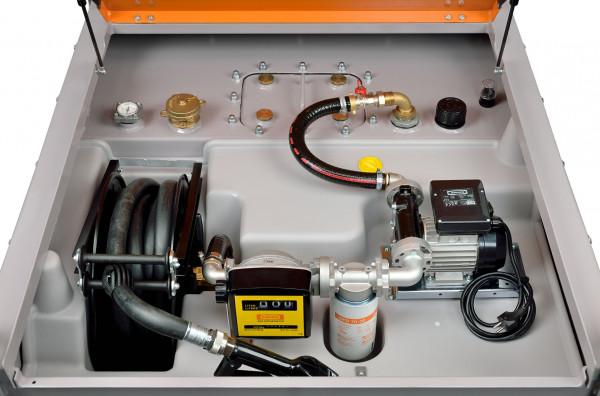 Beispiel DT-Mobil PRO PE 980 Premium mit Elektropumpe und Schlauchaufroller, Zähler & Filter