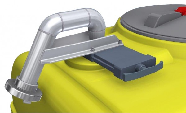 C-Füllanschluss komplett mit Schieber für PE-Fässer