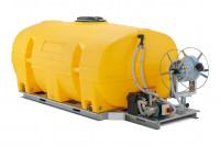 Mobiles Bewässerungssystem BWS 130-PE mit 24-Volt-Elektropumpe inklusive Akku – MIT Schwallwänden