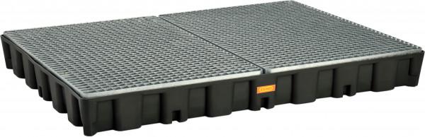 Flächenschutzsystem mit PE-Auffangwanne 250HD mit Stahlgitterrost verzinkt