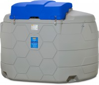 AdBlue CUBE-Tank 5000 Liter Outdoor Basic – seitliche Ansicht und Klappdeckel geschlossen