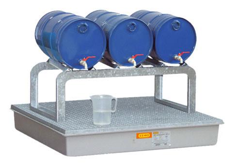 Beispiel Typ FB3 mit 3 Fässern und Auffangwanne