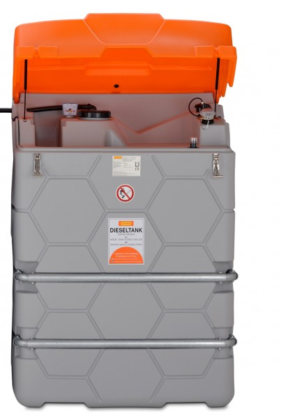 Erweiterungseinheit für Diesel-Tank mit Klappdeckel und Verbindungseinheit