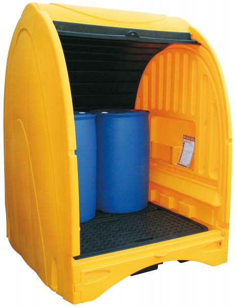 Fassdepot 250-4-GH aus PE für 4 Fässer à 200 Liter