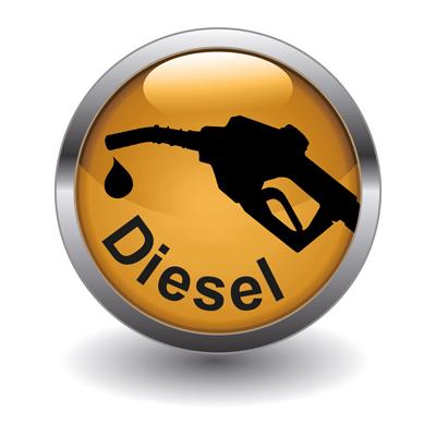 Button-Dieseltank