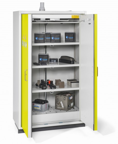Akku-Sicherheitschrank PRO FWF90 zur Lagerung von Lithium-Batterien