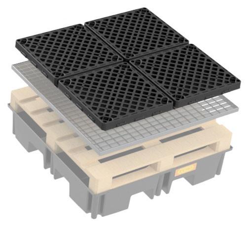 Beispiel für PE-Rost 60 x 60 für PE-Fassauffangwanne