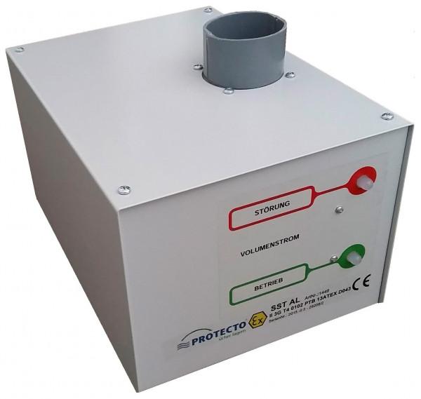 Abluftventilator für Sicherheitsschrank Typ FWF90 (Ansicht Rückseite)
