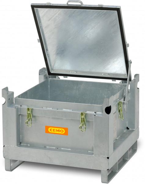 Akku-Stahlsammelbehälter 120 Liter Fassungsvermögen für Akkus und Lithium-Batterien
