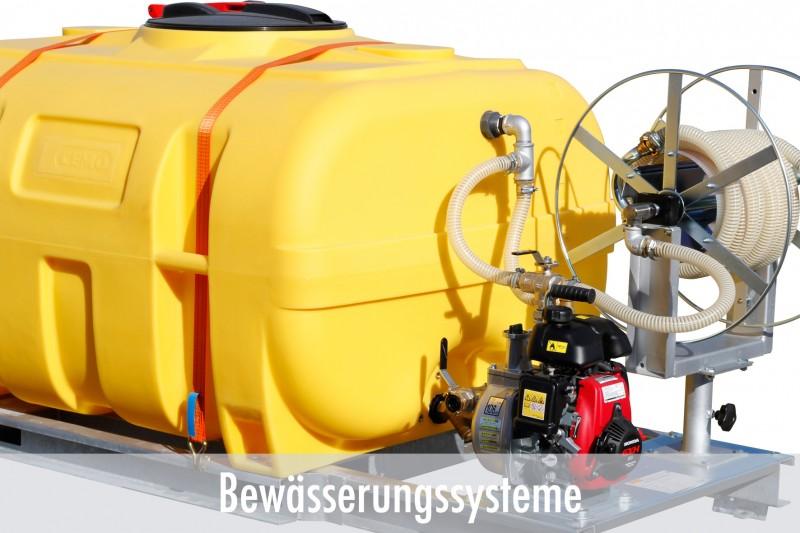 Mobile Bewässerungssysteme mit Fässern