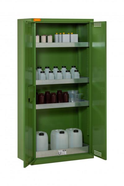 Beispiel Pflanzenschutzmittel-Schrank 10/20 mit 3x Wannenboden und 1x Bodenauffangwanne (Lieferung ohne Inhalt)