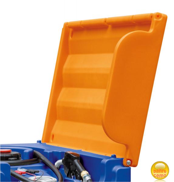 Beispiel Klappdeckel geöffnet, für Blue-Mobil Easy 430 und 600 Liter