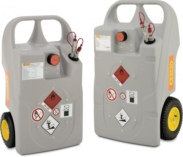 Trolleys für Heizöl und Diesel mit Schnellkupplung – 60 und 100 Liter
