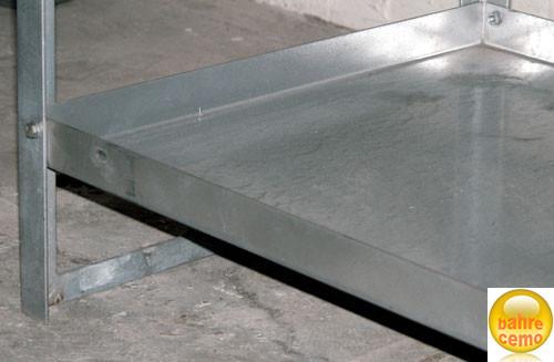 Fachbodenwanne aus Stahl für Gefahrstoffregal Typ 10-5 mit 25 Liter Auffangvolumen