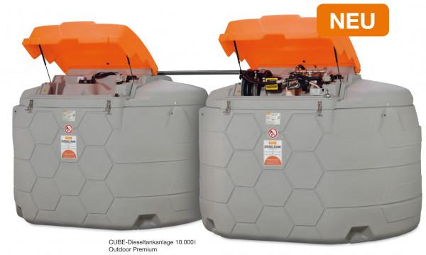Cemo CUBE-Dieseltankanlage 10.000 Liter Outdoor Premium