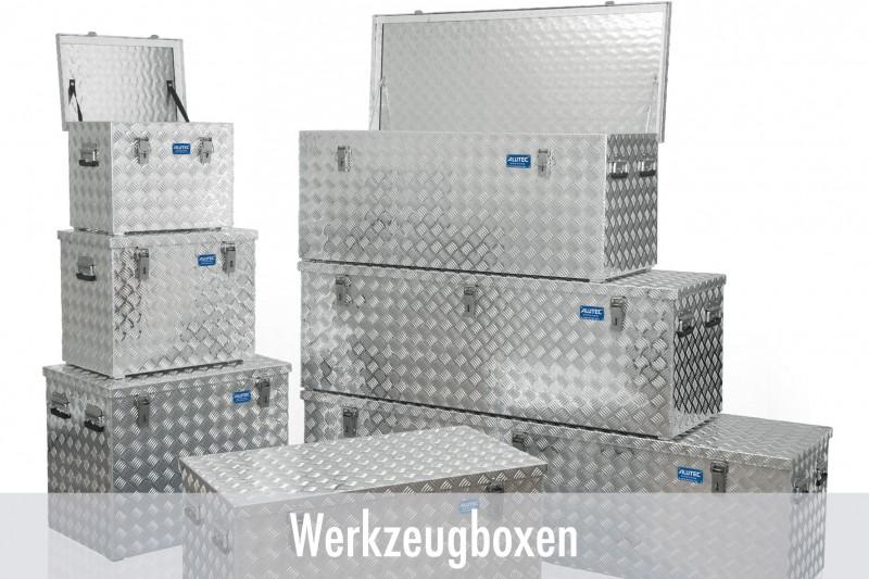 Alutec Werkzeugboxen aus Riffelblech
