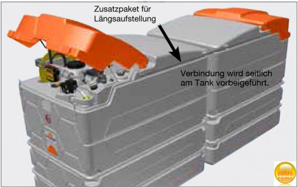 Beispiel Längsaufstellung CUBE-Dieseltanks