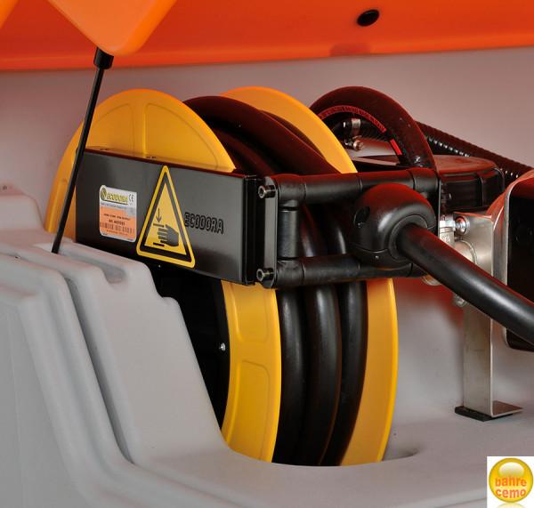 Schlauchaufroller für CUBE-Tank, 8 m Schlauch DN19