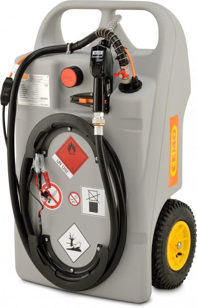 Trolley für Diesel mit Elektropumpe CENTRI SP30 – Beispiel 100 Liter Inhalt
