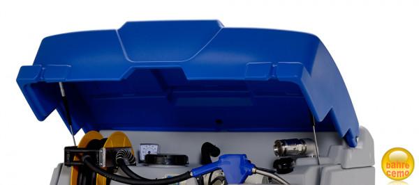 Klappdeckel blau für CUBE-Tank, komplett