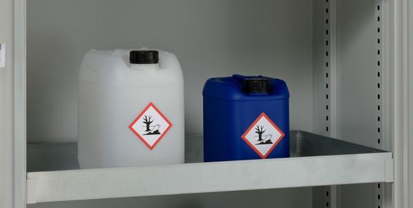 Beispiel Wannenboden 30 Liter aus Stahl als zusätzliche Lagerebene