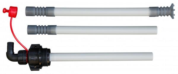 Saugrohr 3-teilig mit Kupplung AF2 und Einschraubgewinde S70x6 für IBCs und Fässer