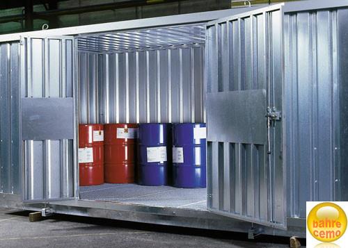 Beispiel Raumcontainer mit zweiflügelige Tür