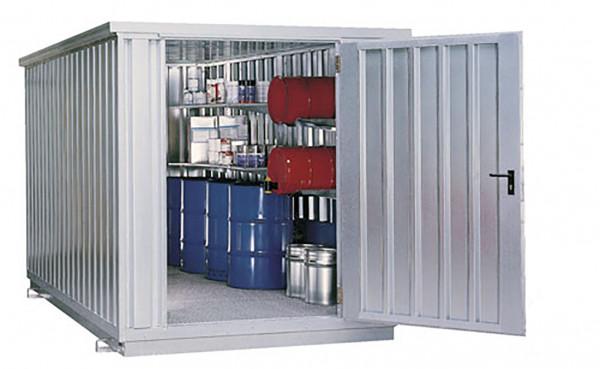 Beispiel Sicherheitsraumcontainer Typ 2.1T mit Wärmeisolierung – verzinkt