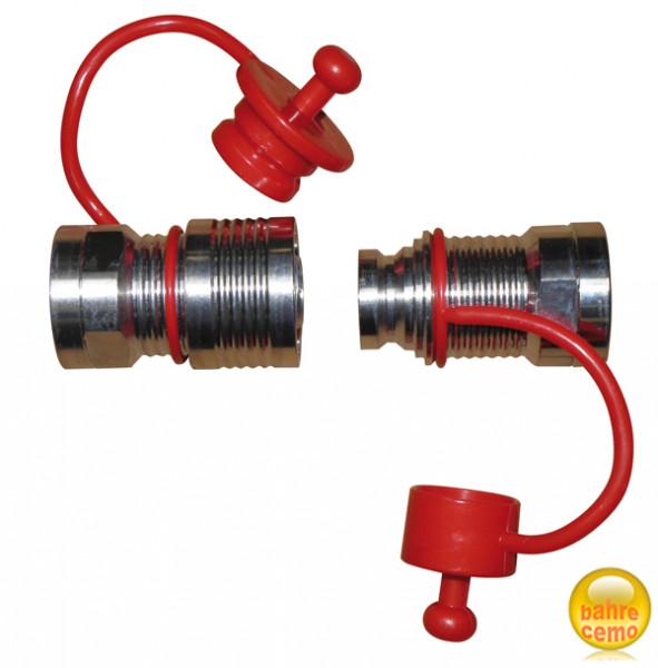 Schlauch-Schnellkupplung mit Staubschutzkappen