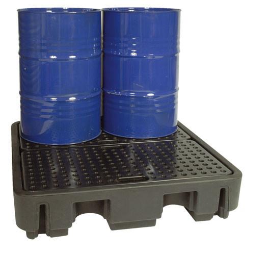 Beispiel PE-Auffangwanne 240-4 mit zwei Fässern