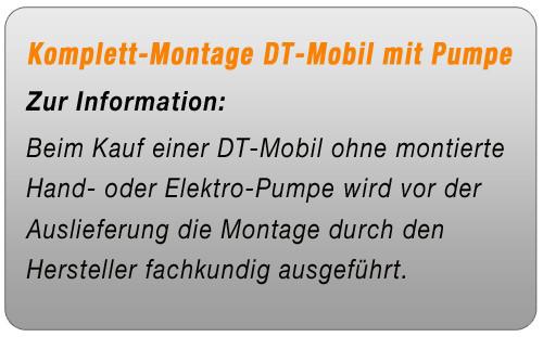 Komplett-Montage DT-Mobil / MULTI / CUBE