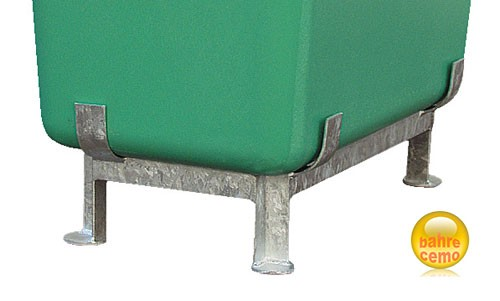 Stahlfußgestell für GFK-Behälter mit 700 Liter