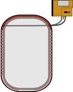 Doppelwandtank vakuumüberwacht